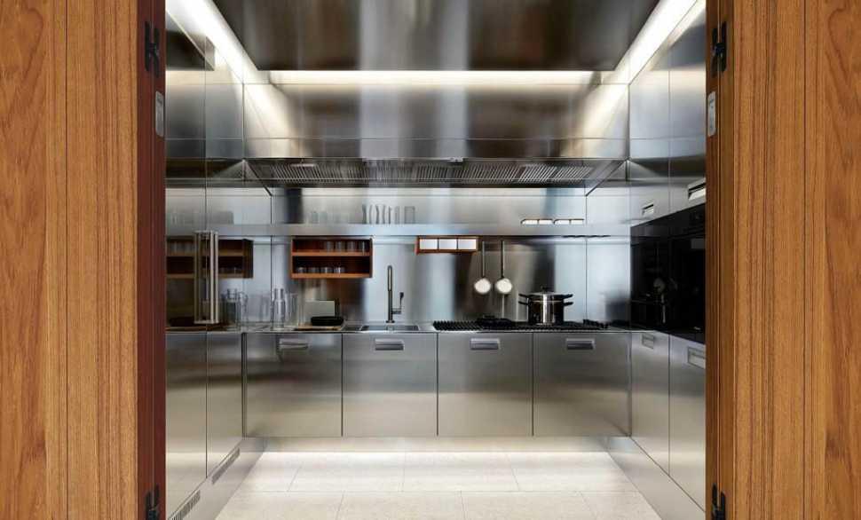 Cucina a scomparsa acciaio Italia di Arclinea