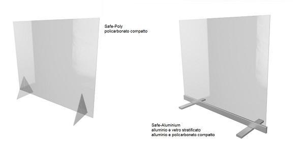 Safe-Poly e Safe-Aluminium, barriere parafiato anti Covid-19 di Serramenti del Chiese