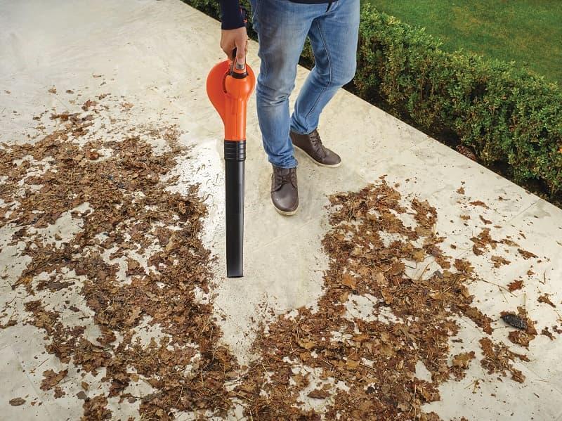 Soffiatore della blackdecker utile per pulire l'orto