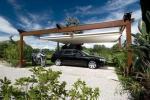 Posto auto con pergola Tecnic Wood di Pratic
