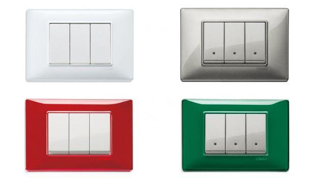 Serie civili moderne e di design per l'impianto elettrico di casa