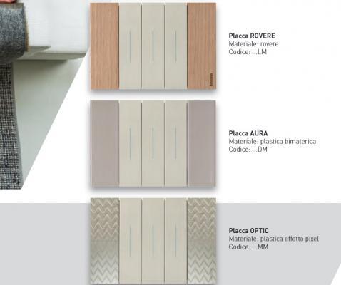 Placca serie Living-Now effetti legno bticino