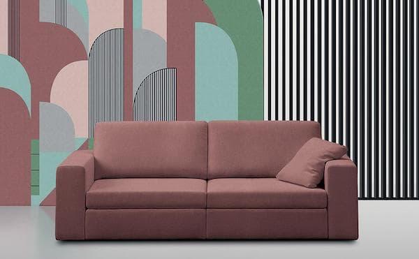 Love seat Leon, rivestimento rosa antico - Design e foto by Felis