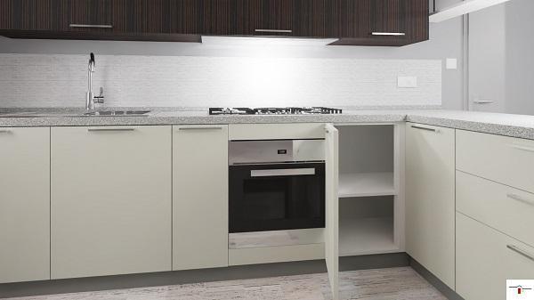 Base angolare per composizione cucina con semplice ripiano