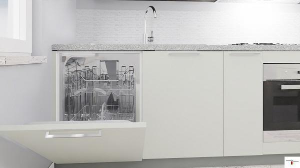 Progettare la cucina: dove inserire la lavastoviglie