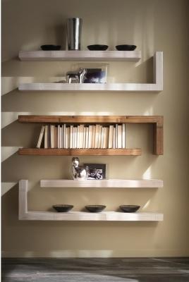 Mensola a parete con fissaggio a scomparsa, serie Essential - Il Bambù