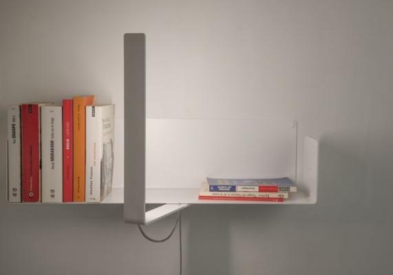 Mensola a parete con fissaggio a vite - TEE Books