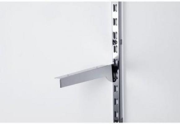 Staffe reggimensola in acciaio cromate per montanti a cremagliera . RETIF