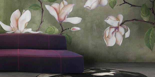 Carta da parati di design concrete lillii Now edizioni