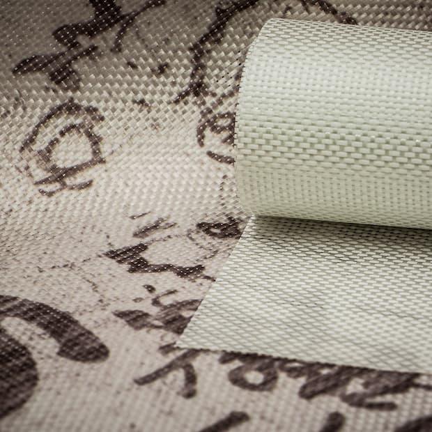 Design carta da parati in fibra di vetro Inkiostro bianco