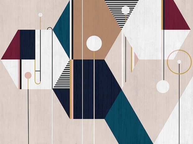Rivestimento parete moderna carta da parati artistica
