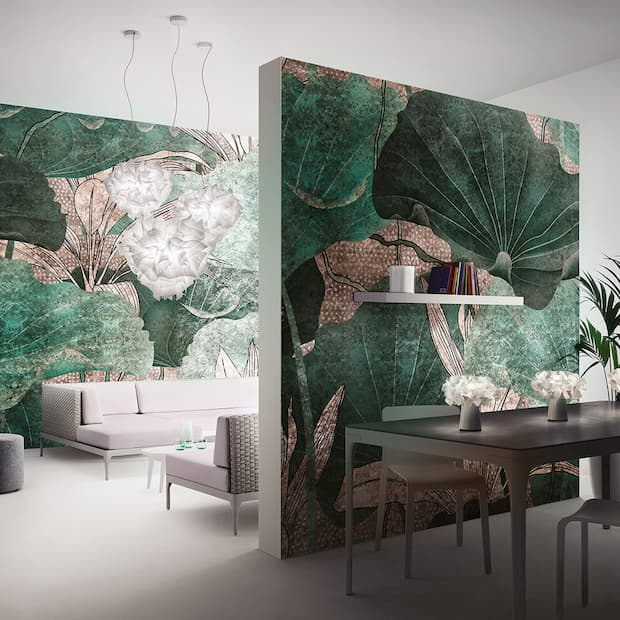 Tappezzeria pareti Elementa by Inkiostro Bianco
