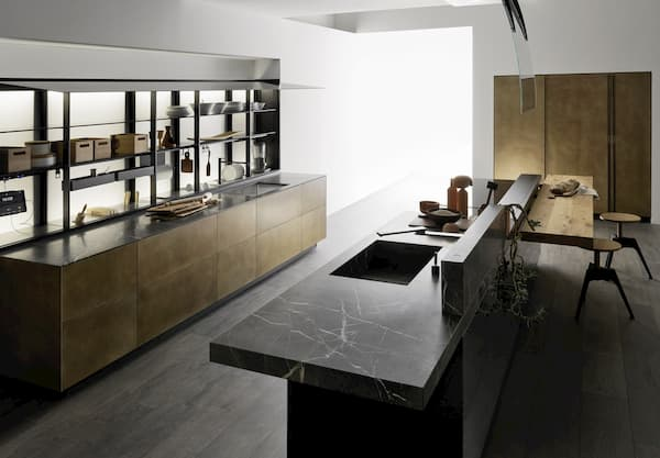 Progettare arredamento casa a contrasto - Valcucine linea Artematica
