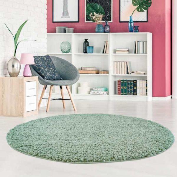 Long pile rug in mint shape from Trendcarpet