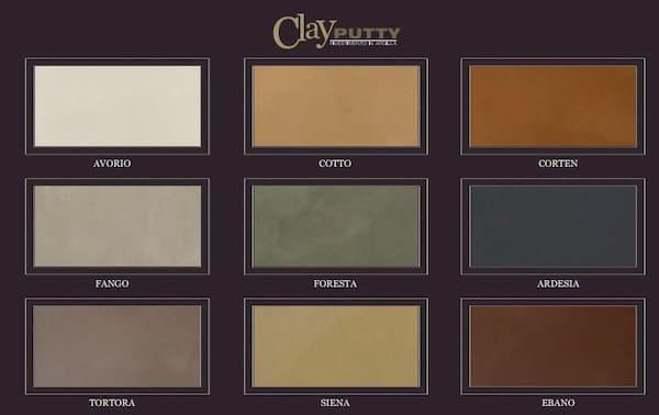 Cartella colori di Clay Putty di Terragena