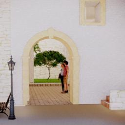 Androne d'ingresso oggetto del progetto