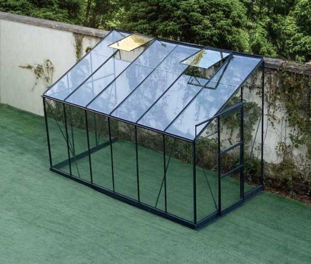 Serra solare prefabbricata, Green Protect, tipo addossata
