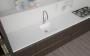Piano cucina con lavello integrato in Corian, facile da pulire