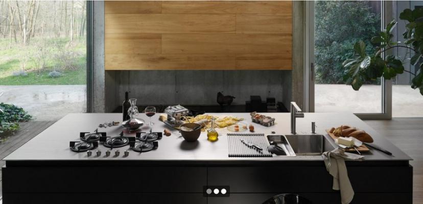 Franke, piano lavoro in cucina inox Customized