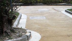 Pavimentazioni e marciapiedi in battuto di tufo