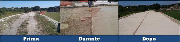 Lavori per pavimento in battuto di tufo a Cuma, Lancellottirestauro.com e Zeocalce