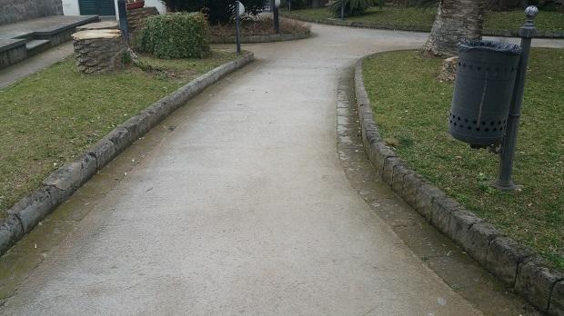 Lancellottirestauro.com e Zeocalce realizzano marciapiedi in battuto di tufo