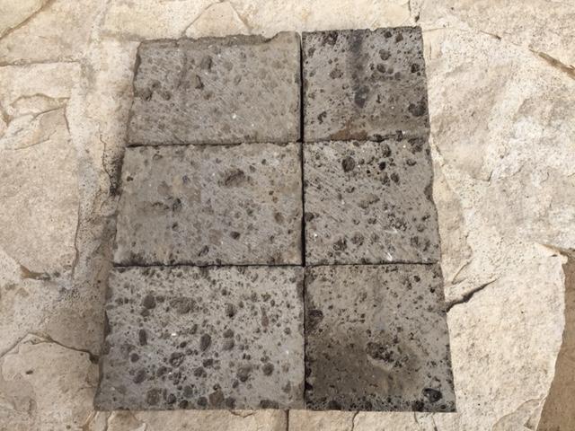 Tufo Etrusco, piastrelle per pavimentazioni carrabili in tufo nero