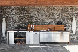 Cucina da esterno: piano lavoro per esterni