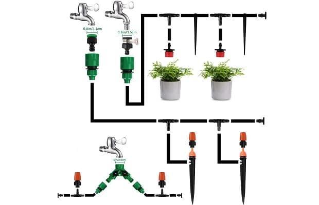Irrigazione goccia montaggio kit Emooqi Amazon