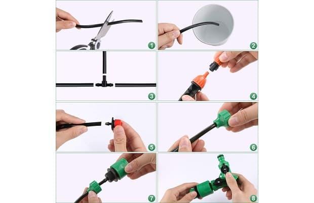 Irrigazione goccia istruzioni kit Emooqi Amazon