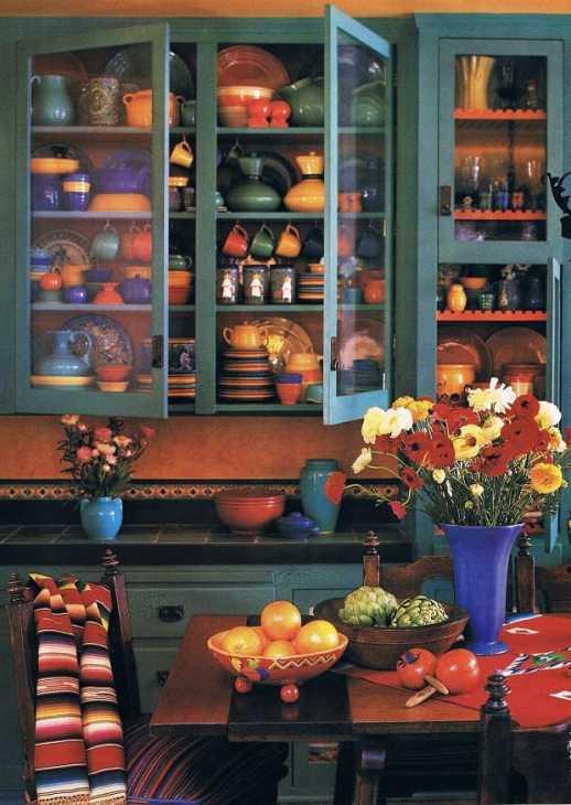 La ceramica in una casa messicana, da cocinasmodernas.co