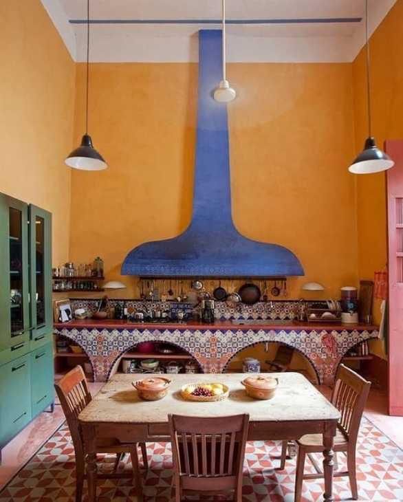 Cucina stile messicano, da architecturaldigest.com