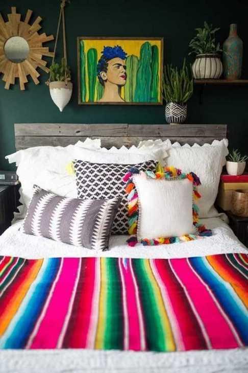 Il cotone in una casa stile messicano, da nunohomez.com