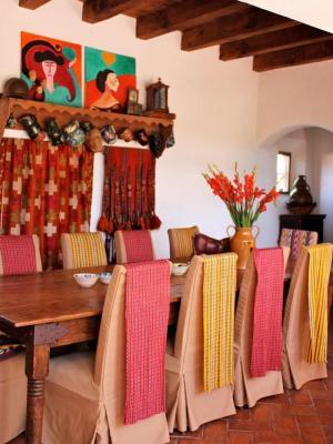 Legno e ceramica nello stile messicano, da decoratorist.com