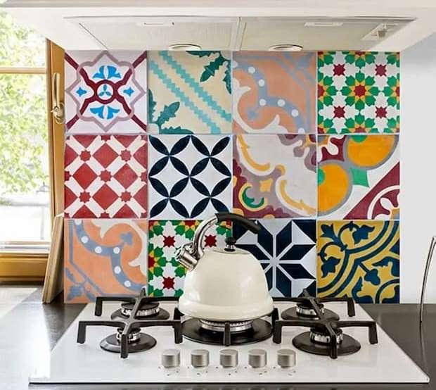 Paraschizzi adesivo, Dekoidea, colorful tiles