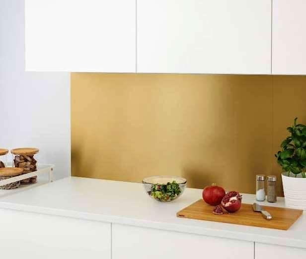 Paraschizzi per cucina, IKEA, Lysekil ottone