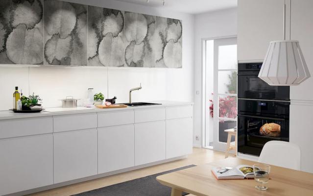 Paraschizzi cucina, Ikea, Lisekil bianco