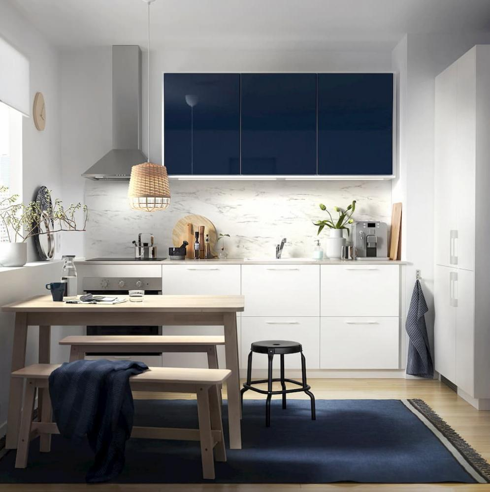 Paraschizzi per cucina, Ikea, Sibbarp bianco effetto marmo