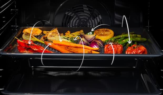 Frittura verdure forno Elettrolux, funzione Airfry