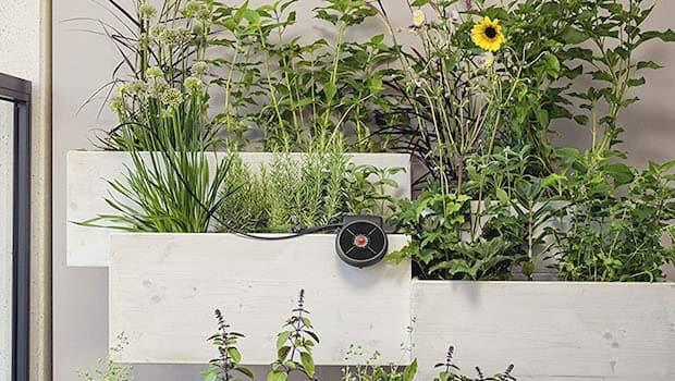 Irrigazione fuori terra vasi, kit Aquabloom - Foto by Gardena
