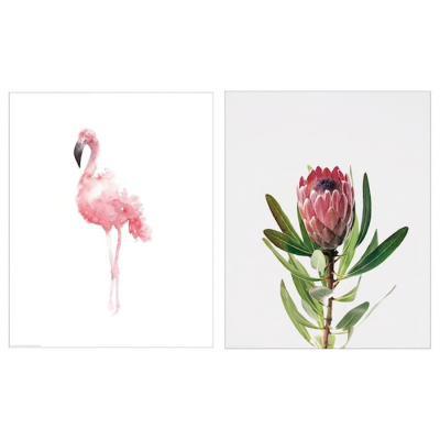 Poster BILD fenicottero e fiore - Design e foto by Ikea