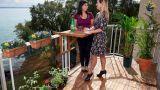 Tavolino da ringhiera per il balcone