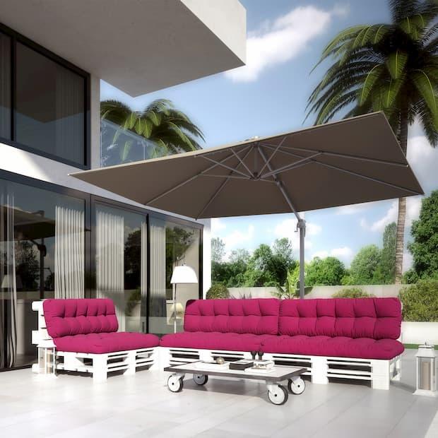 Cuscini imbottiti da esterno per divani realizzati con pallet di DeghiShop