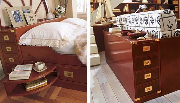 Accorgimenti salvaspazio dei mobili in stile nautico de Il Vascello