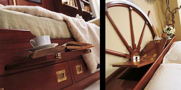 Astuzie salvaspazio dei mobili in stile nautico de Il Vascello