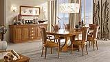 Old navy dining room with Sestante table by Caroti