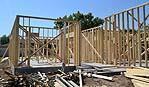 Platea di fondazione di cemento armato per casa in legno