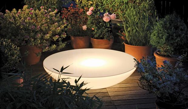 Tavolino luminoso da esterni Lounge Variation Outdoor Plants di Moree