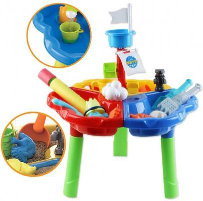 Tavolino da gioco per bambini con vaschetta sabbia e acqua su Amazon