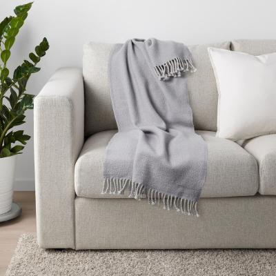 Plaid grigio Omtaenksam - Fonte foto: Ikea